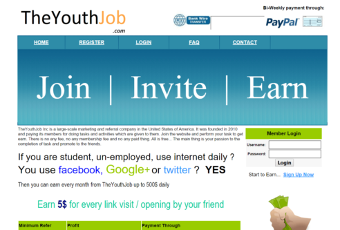 the youth job scam