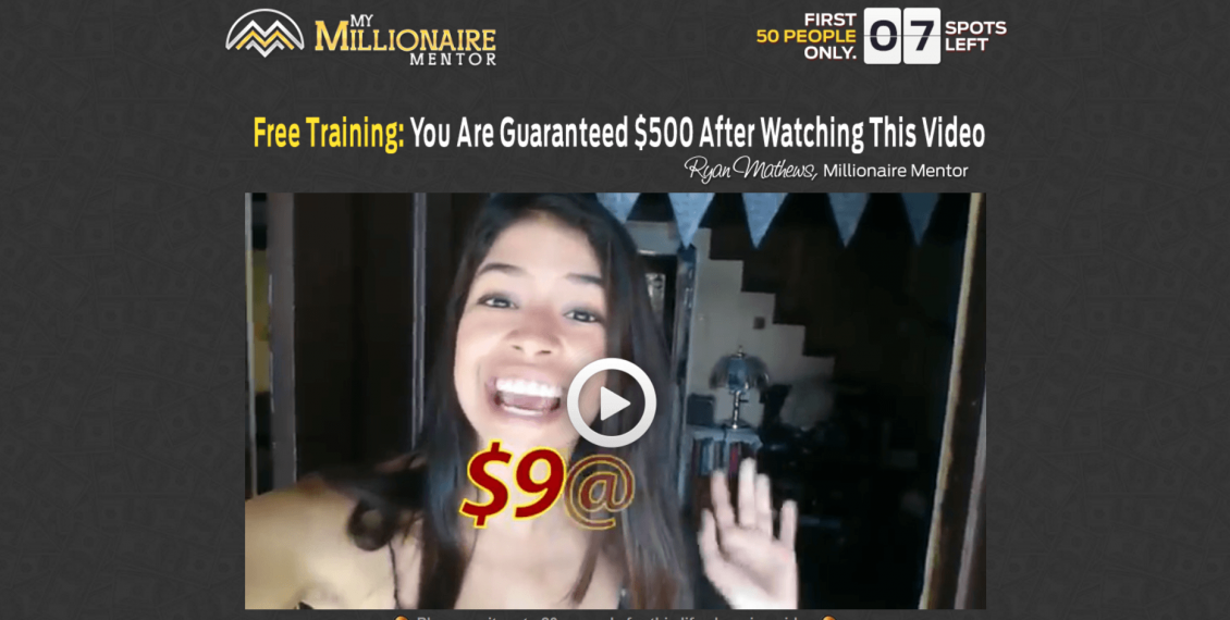 is my millionaire mentor a scam
