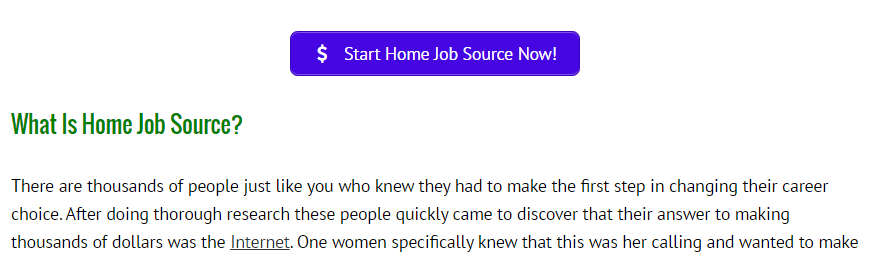 is home job source a scam