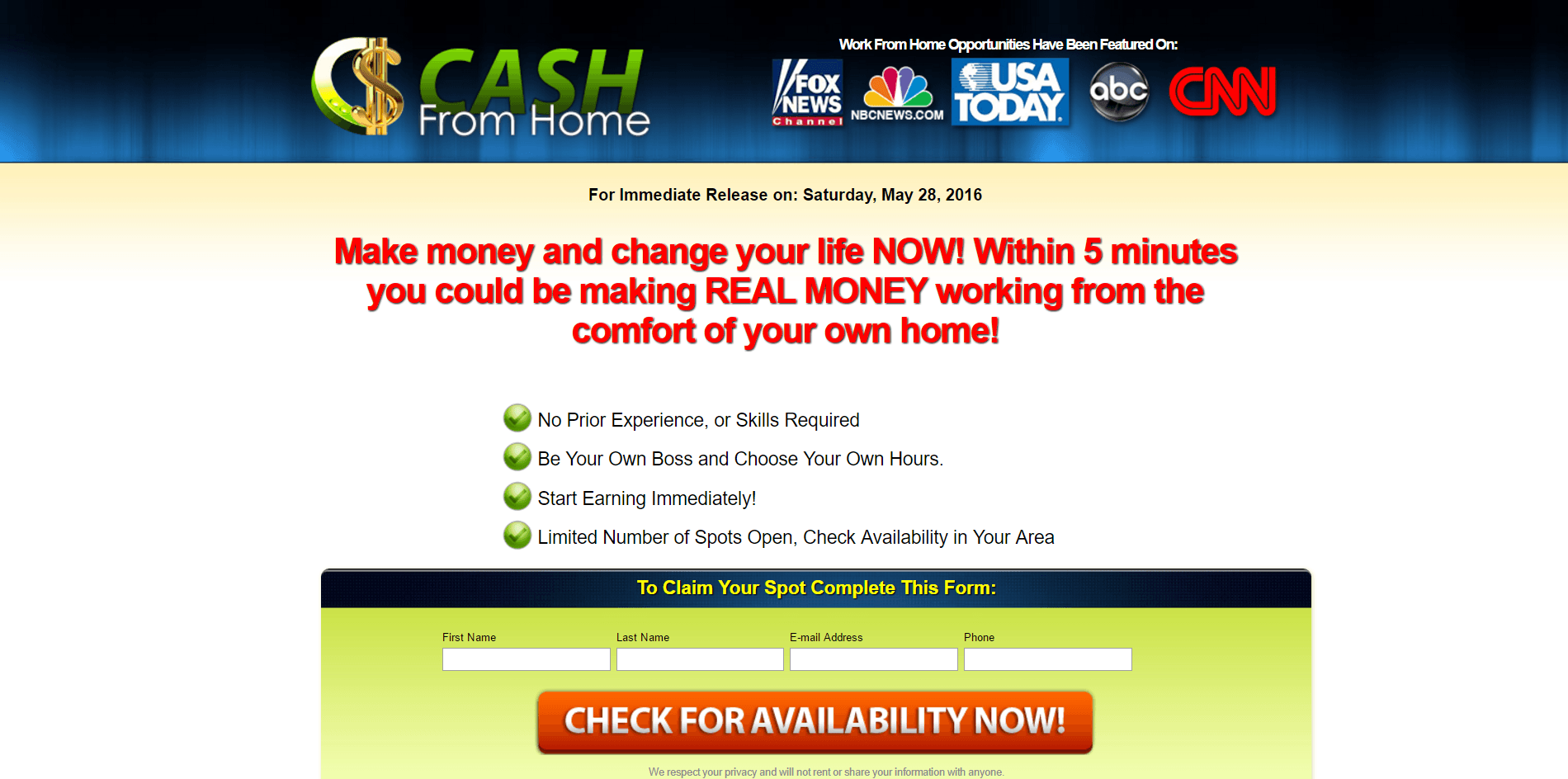 Do you know of any legit scam-free work @ home opportunities for people with disabilities?