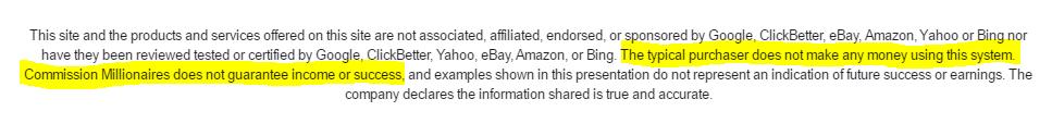 commission millionaires review