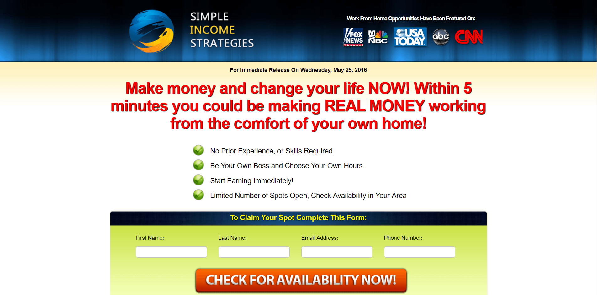 simple income strategies a scam