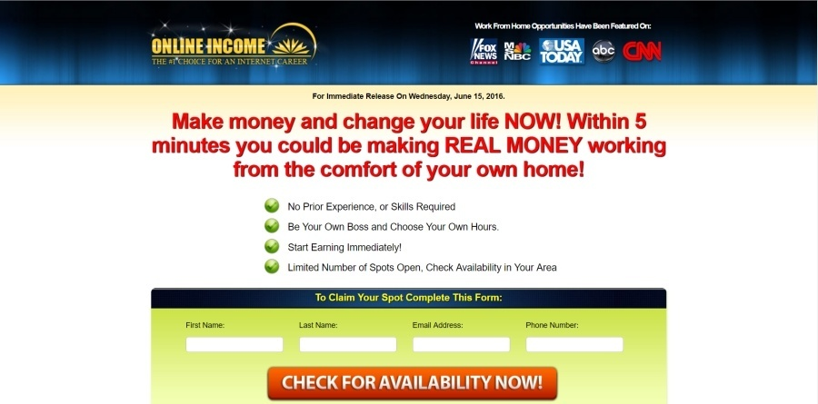 is online income a scam