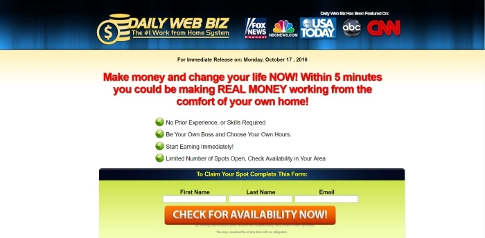 is daily web biz a scam