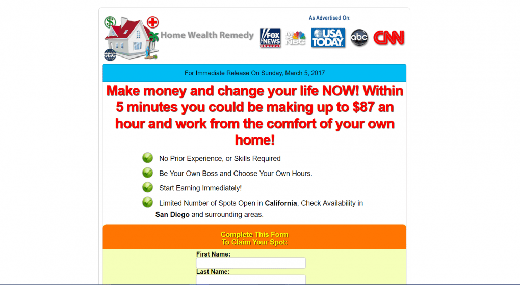 is home wealth remedy a scam