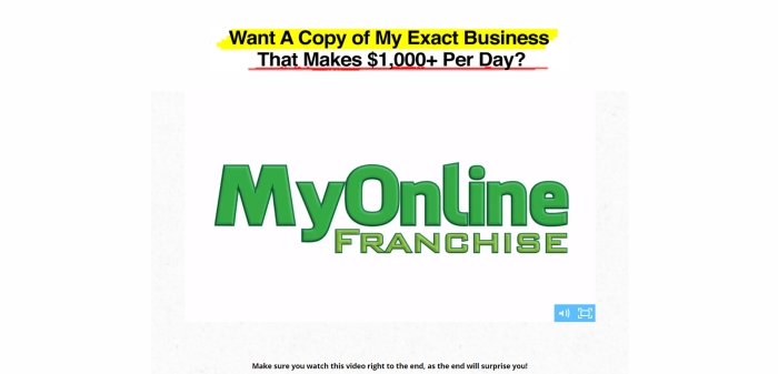 my online franchise review