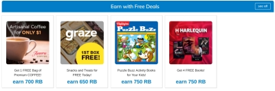 an example of some of the offers at rewards buck