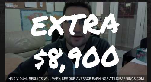 somebody claiming to have made an extra $8,900 with Dream Lifestyle Secrets