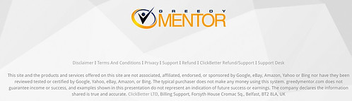 greedy mentor disclaimer