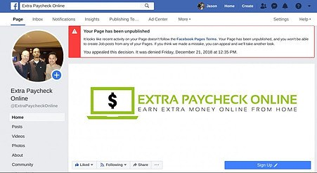 extra paycheck online facebook