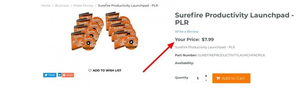 surefire plr for sale for $7.99